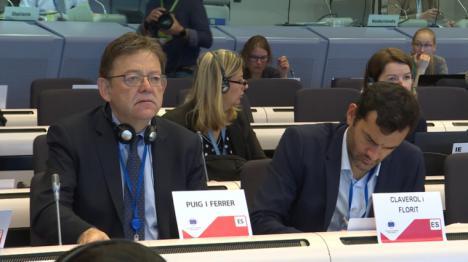 Puig aboga por consolidar la conectividad de la Comunitat Valenciana con el resto de Europa