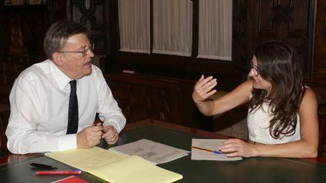 Puig y Oltra acuerdan trasladar a Rajoy la necesidad urgente de cambiar el modelo de financiación