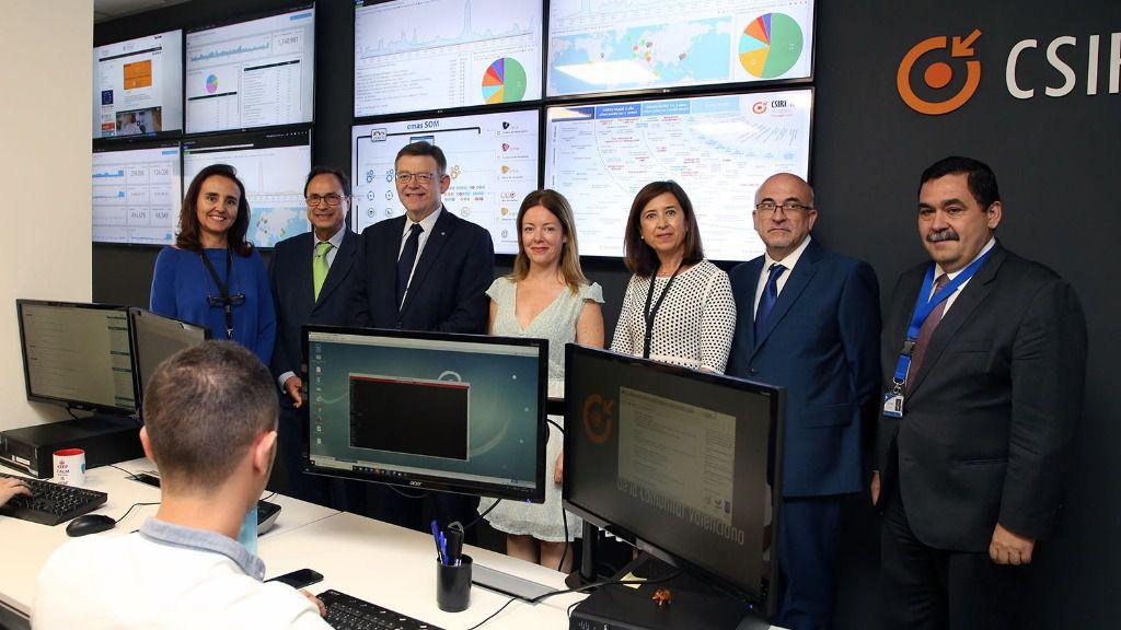 Puig visita el centro de ciberseguridad de la Generalitat, que se ha convertido en referente internacional