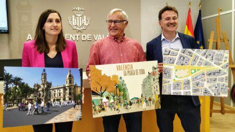 La plaza del Ayuntamiento de Valencia será peatonal en 2020
