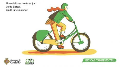 Castelló activará una campaña para frenar el repunte del vandalismo contra el Bicicas