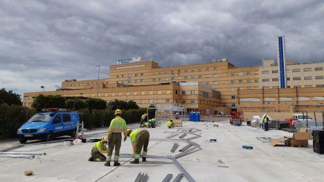 El hospital de campaña de Castelló contará con una capacidad de 200 camas