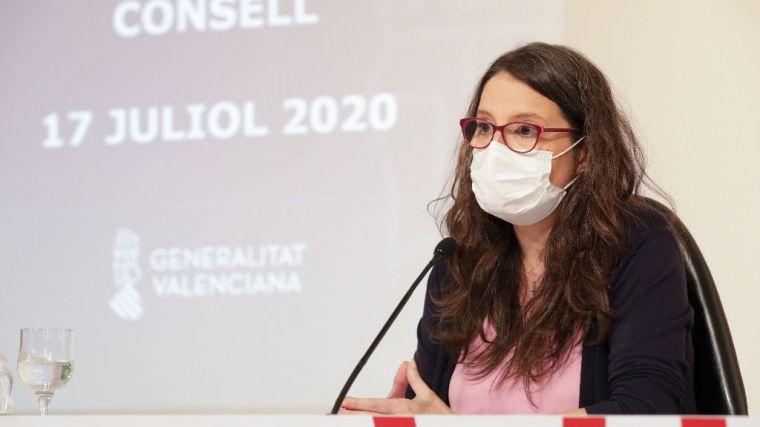 Oltra: 'La mascarilla es nuestra única vacuna contra la COVID-19'