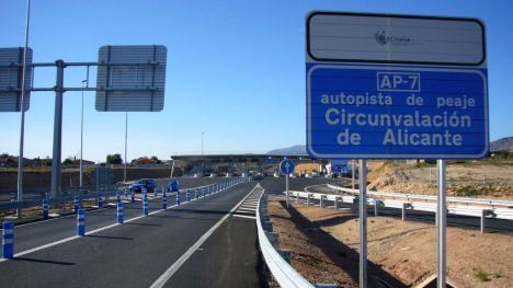 La AP-7 Alicante-Cartagena sube de precio mañana