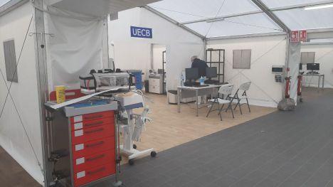 Ingresan los primeros pacientes de Covid-19 en el hospital de campaña de Valencia