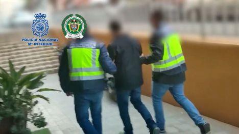"""La Policía Nacional detiene en Alicante a """"el Zarco"""", uno de los criminales más buscados en Colombia"""