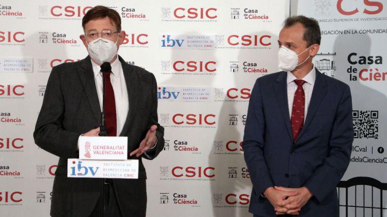 Ximo Puig y Pedro Duque destacan el liderazgo del sistema de innovación valenciano en la pandemia