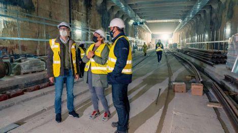 Se instalan los primeros carriles en el tramo subterráneo de la Línea 10 de Metrovalencia