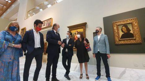 El Museo de Bellas Artes de València ya exhibe en la sala principal el retrato pintado por Botticelli