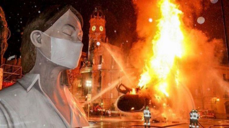 La Cremà de las fallas de València se avanzará dos horas para poder garantizar el toque de queda