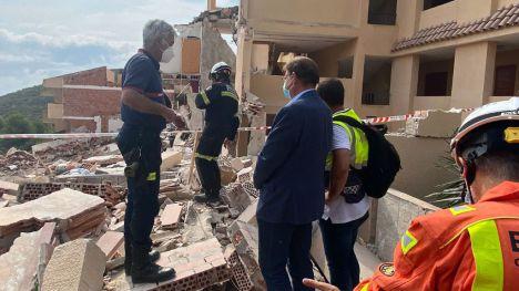 Puig ofrece ayuda a Peñíscola para los afectados por el derrumbe de un edificio