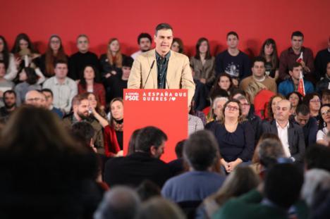 """Sánchez: """"Frente a la vetocracia, el PSOE va a tender la mano a todos los partidos"""""""